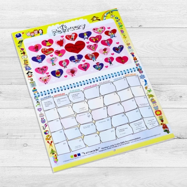 School Fundraising Calendar - www.wemakecalendars.com