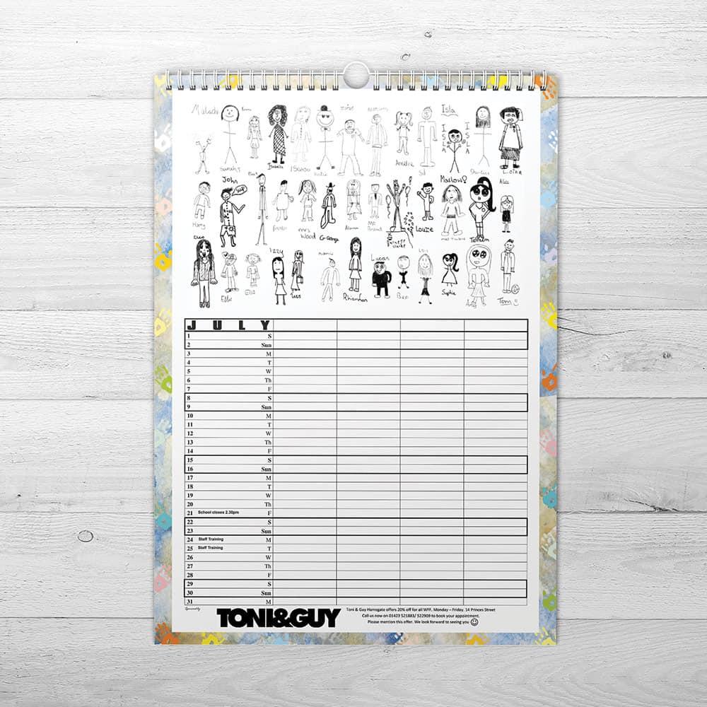 School Fundraising Calendars - We Make Calendars
