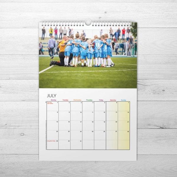 Football Club Calendar - www.wemakecalendars.com